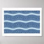 Amazing Rippling Blue Water Optical Illusion Print