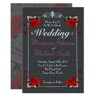 Amazing Roses Frame Formal Wedding Card