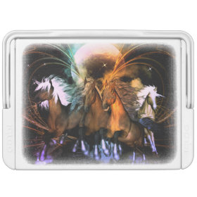Amazing running horses in the universe igloo can cooler