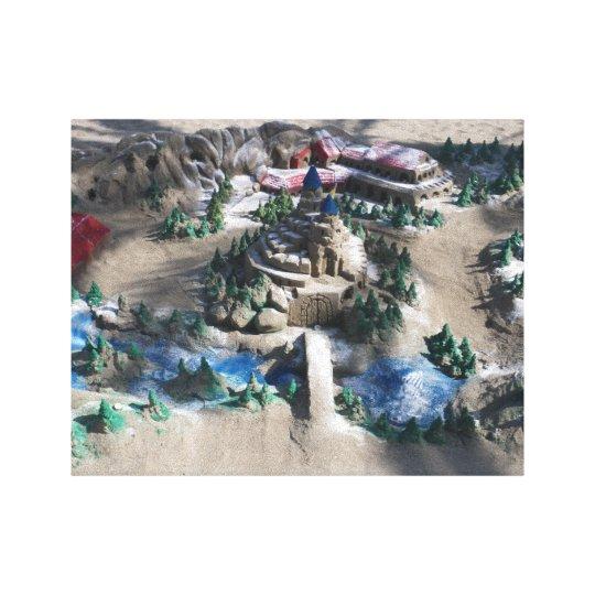 Amazing sand design canvas print