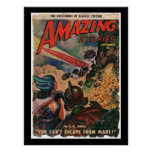 Amazing Science Fiction Stories 1950_Pulp Art Poster