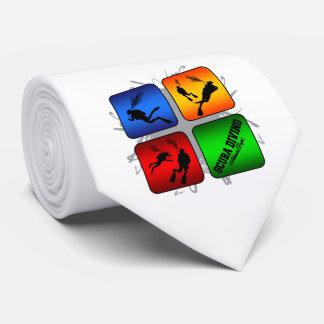 Amazing Scuba Diving Urban Style Tie