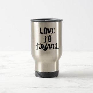 amazing silver and black travel mug