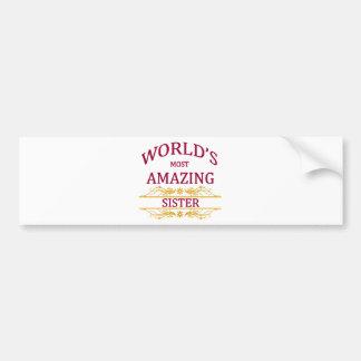 Amazing Sister Bumper Sticker
