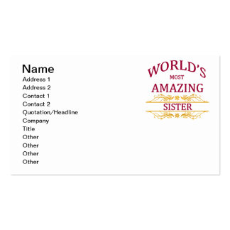 Amazing Sister Business Card
