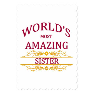 Amazing Sister Card
