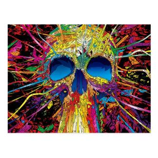 Amazing Skull Abstract Art Postcard