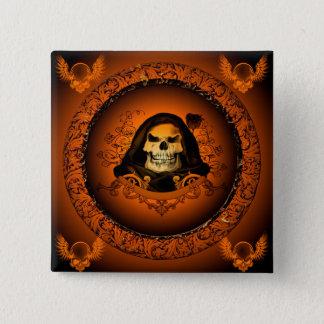 Amazing skull pinback button