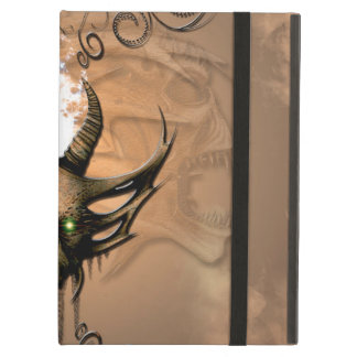 Amazing skull with floral elements cover for iPad air