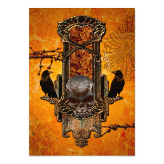 Amazing skulls and roses card