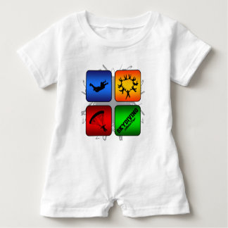Amazing Skydiving Urban Style Baby Romper