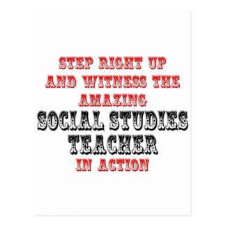 Amazing Social Studies Teacher In Action Postcard
