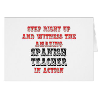 Amazing Spanish Teacher In Action Card
