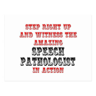 Amazing Speech Pathologist In Action Postcard