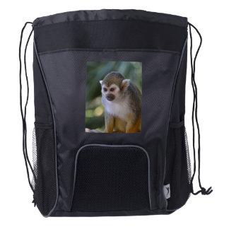 Amazing Squirrel Monkey Drawstring Backpack