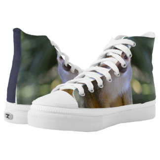 Amazing Squirrel Monkey High-Top Sneakers