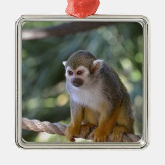 Amazing Squirrel Monkey Metal Ornament
