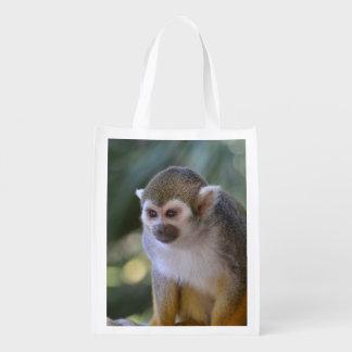 Amazing Squirrel Monkey Reusable Grocery Bag