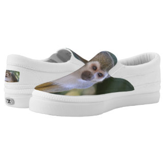 Amazing Squirrel Monkey Slip-On Sneakers