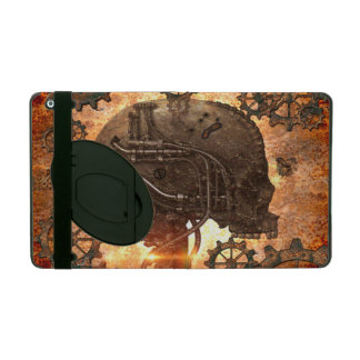 Amazing steampunk Skull with gears iPad Cover