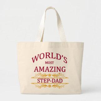 Amazing Step-Dad Large Tote Bag