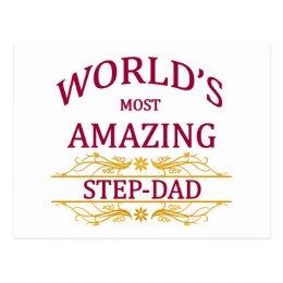 Amazing Step-Dad Postcard