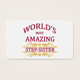 Sister business cards templates zazzle amazing step sister business card reheart Image collections