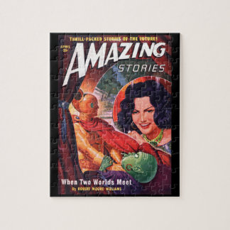 Amazing Stories _April 1950_Pulp Art Jigsaw Puzzle