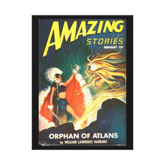 Amazing Stories_ February 1947_Pulp Art Canvas Print