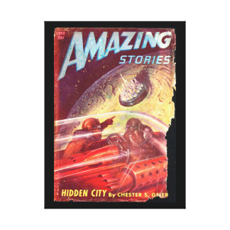 Amazing Stories_ July 1947_Pulp Art Canvas Print