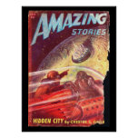 Amazing Stories_ July 1947_Pulp Art Poster