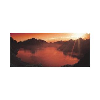 Amazing stunning sunset canvas print