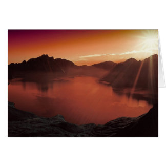 Amazing stunning sunset card