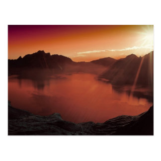 Amazing stunning sunset postcard