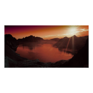 Amazing stunning sunset poster