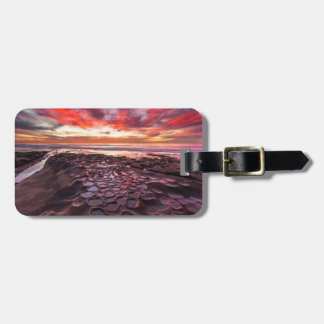 Amazing sunset at the tide pools bag tags