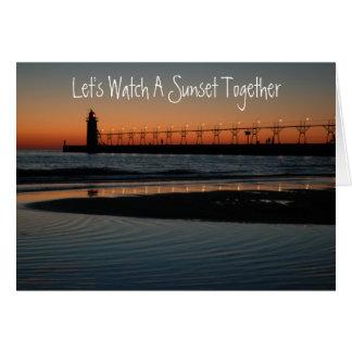 Amazing Sunset Card