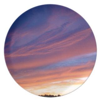 Amazing Sunset Melamine Plate