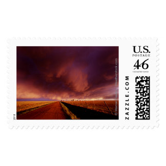 Amazing Sunset Storm Over Tornado Alley Stamp