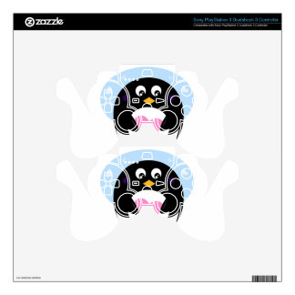 Amazing sweet Penguin with heart Skin For PS3 Controller