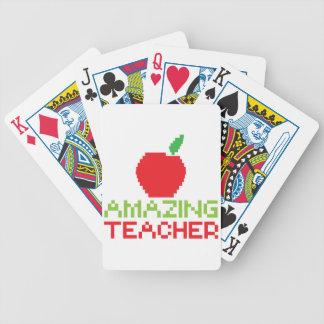 AMAZING TEACHER with digital apple Bicycle Playing Cards