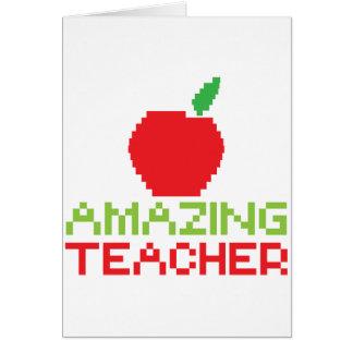 AMAZING TEACHER with digital apple Card