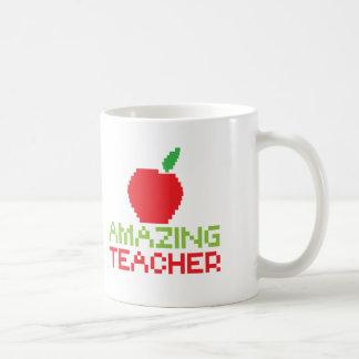 AMAZING TEACHER with digital apple Coffee Mug