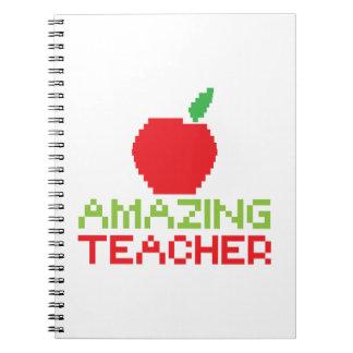 AMAZING TEACHER with digital apple Notebook