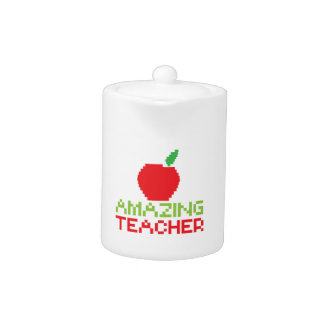 AMAZING TEACHER with digital apple Teapot