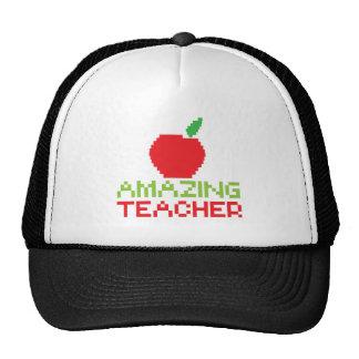 AMAZING TEACHER with digital apple Trucker Hat