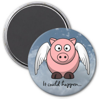 Amazing things happen in life everyday 3 inch round magnet