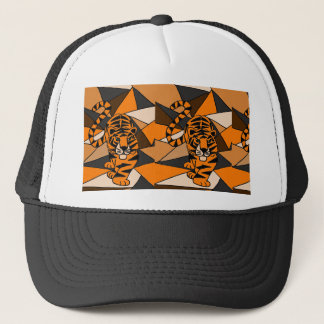 Amazing Tiger Abstract Art Design Trucker Hat