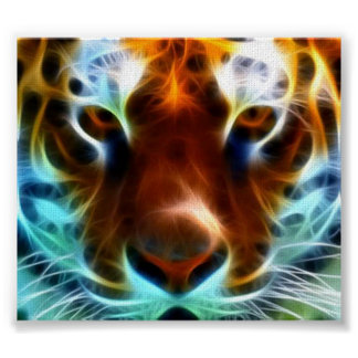 Amazing tiger canvas picture poster