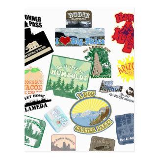 Amazing Travel Collage Postcard